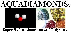 AQUADIAMONDS LOGO - Super Hydro-Absorbent Soil Polymers at Discount Prices!